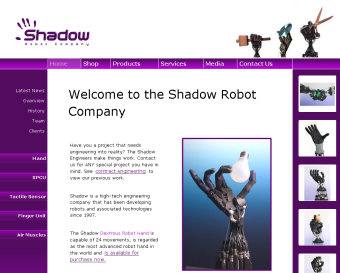 The Shadow Robot Company website is now located at www.shadowrobot.com
